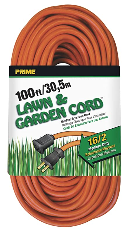 Prime Wire & Cable EC481635 100-Foot 16/2 SJTW Lawn and Garden ...