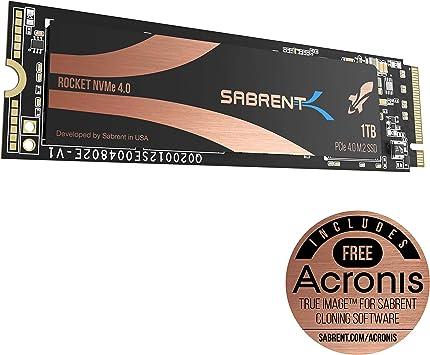 Sabrent 1TB Rocket Nvme PCIe 4.0 M.2 2280 SSD Interno Unidad de ...