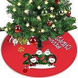 N/Q 【US Stock】 Christmas Tree Skirt Ornaments Christmas Decoration Mini Christmas Tree Skirt Tree Bottom Decoration Xmas…