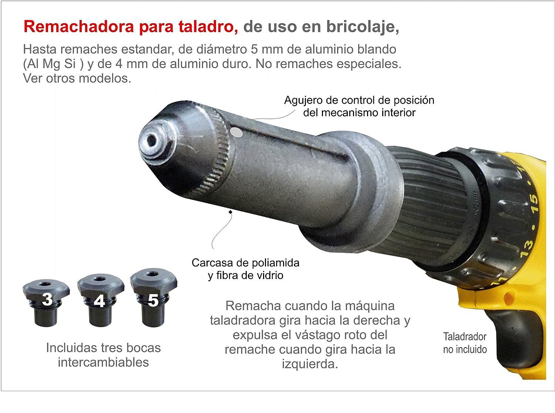RiveDrill E10 Remachadora para Taladro, Negro: Amazon.es: Bricolaje y herramientas