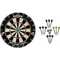 Unicorn Dart Board Eclipse Pro2 Bristle Board + McDart Steeldarts