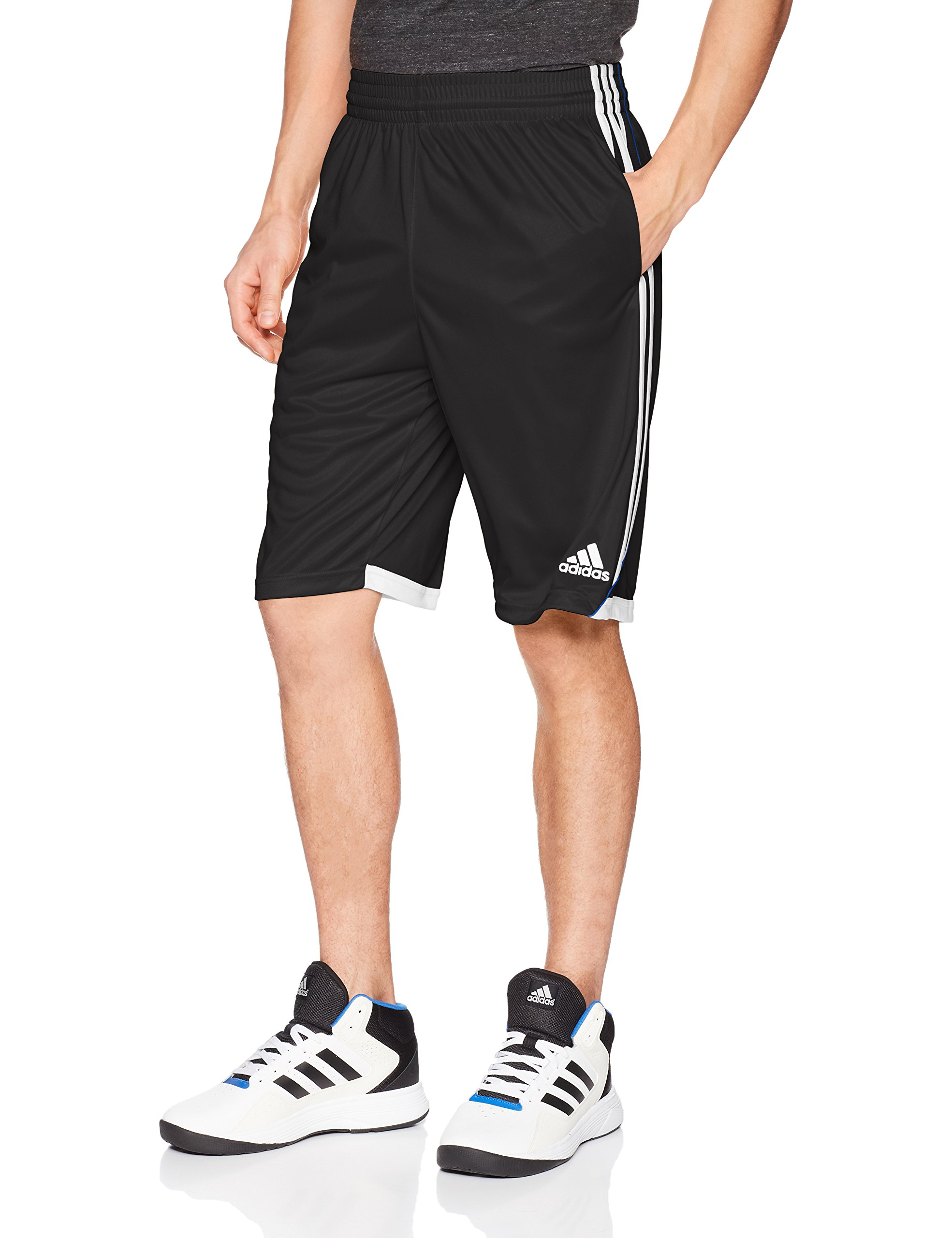 adidas Men's Basketball 3G Speed Shorts, Black, Small