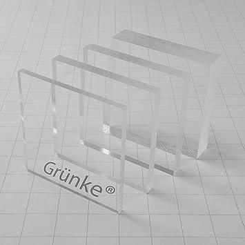 600mm x 500mm Acryl Gr/ünke/® 3 mm Acrylglas XT farblos klar Zuschnitt Platte