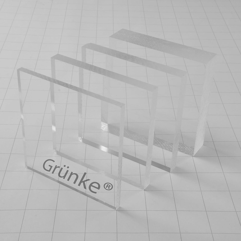 600mm x 400mm Acryl Gr/ünke/® 3 mm Acrylglas XT farblos klar Zuschnitt Platte
