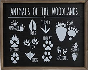 Hobby Lobby Animals of The Woodlands Tracks Wood Wall Décor