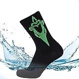 SuMade 100% Waterproof Socks, Merino Wool Men Women Breathable Hiking Running Cycling Socks