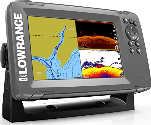 Lowrance HOOK2 7 - 7-inch Fish Finder with SplitShot Transducer and US/Canada Navionics+ Map Card
