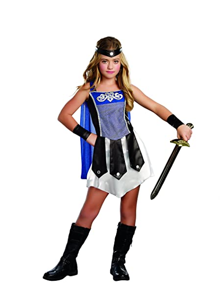 SugarSugar Girls Gladiator Costume, One Color, Small, One Color, Small