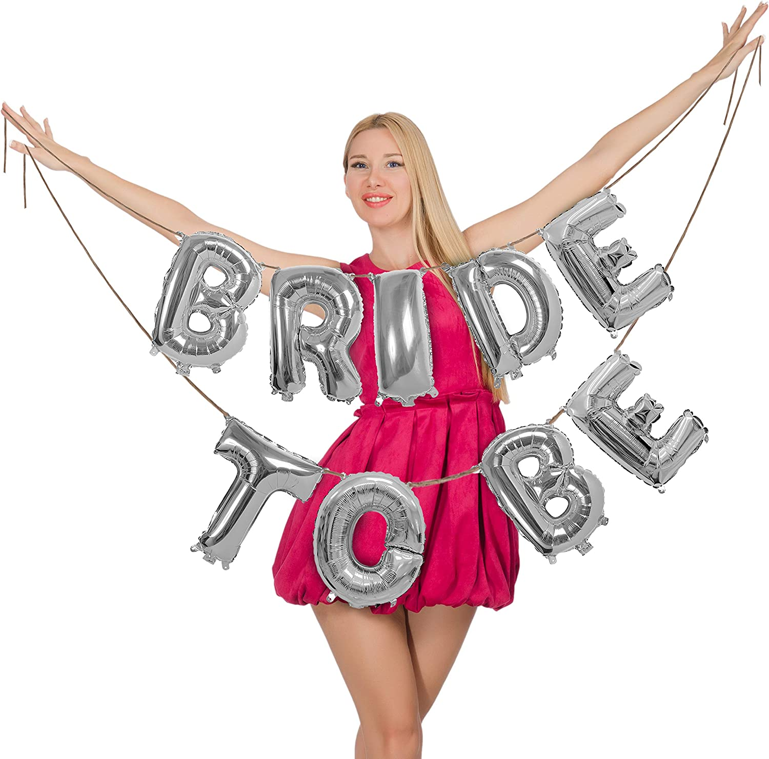 Bride to be Wedding Party Engagement Letters Bridal Shower Hens Night Foil Ring