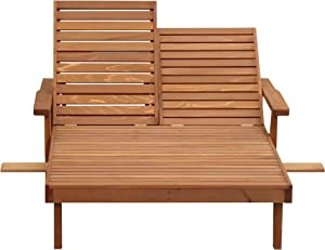 Best Redwood Double Summer Chaise Lounge
