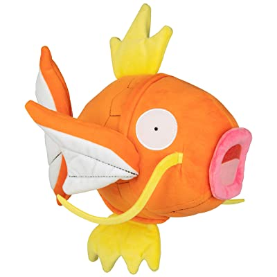 PoKéMoN Flopping Magikarp Plush - 10 Inch Interactive Pokemon Fish Toy Flops, Wiggles and Shakes - Age 4+: Toys & Games