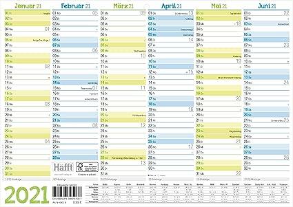 Calendario da parete 2021 A4 orizzontale, calendario annuale da