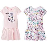 Peppa Pig Girls 2 Pack T-Shirt Dresses