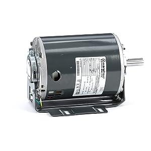 Marathon D149 56 Frame 56S17D2050 Open Drip Proof Belt Drive Motor, 1 Split Phase, Resilient Ring Mount, Ball Bearing, 1/2 hp, 1725 RPM, 1 Speed, 115 VAC