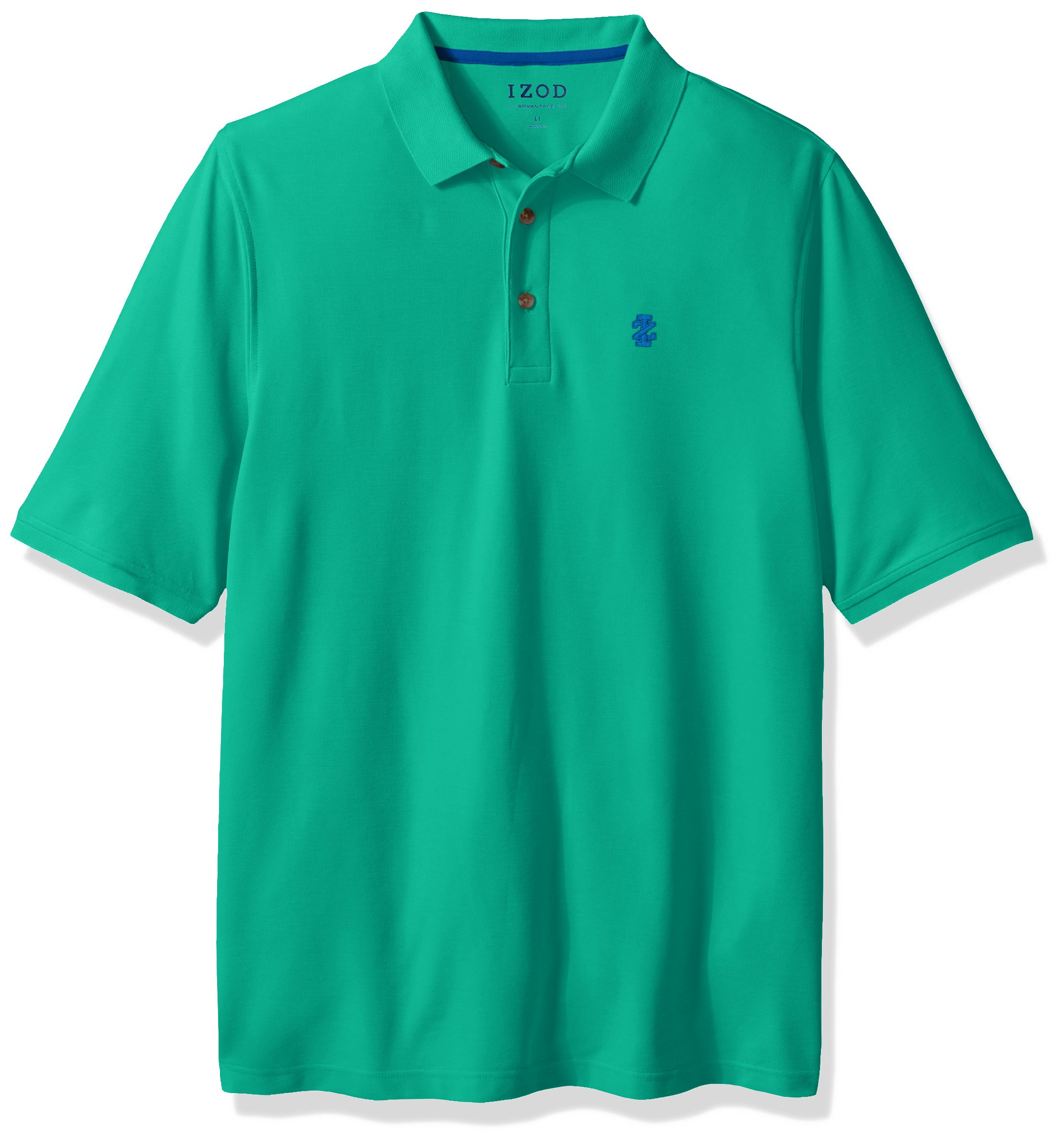IZOD Men's Big and Tall Advantage Performance Solid Polo, Simply Green, 4X-Large Big