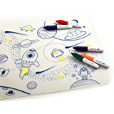 Super Petit Drawing Games - Tablemat Set - Into The Space, Multi, 192 Gram
