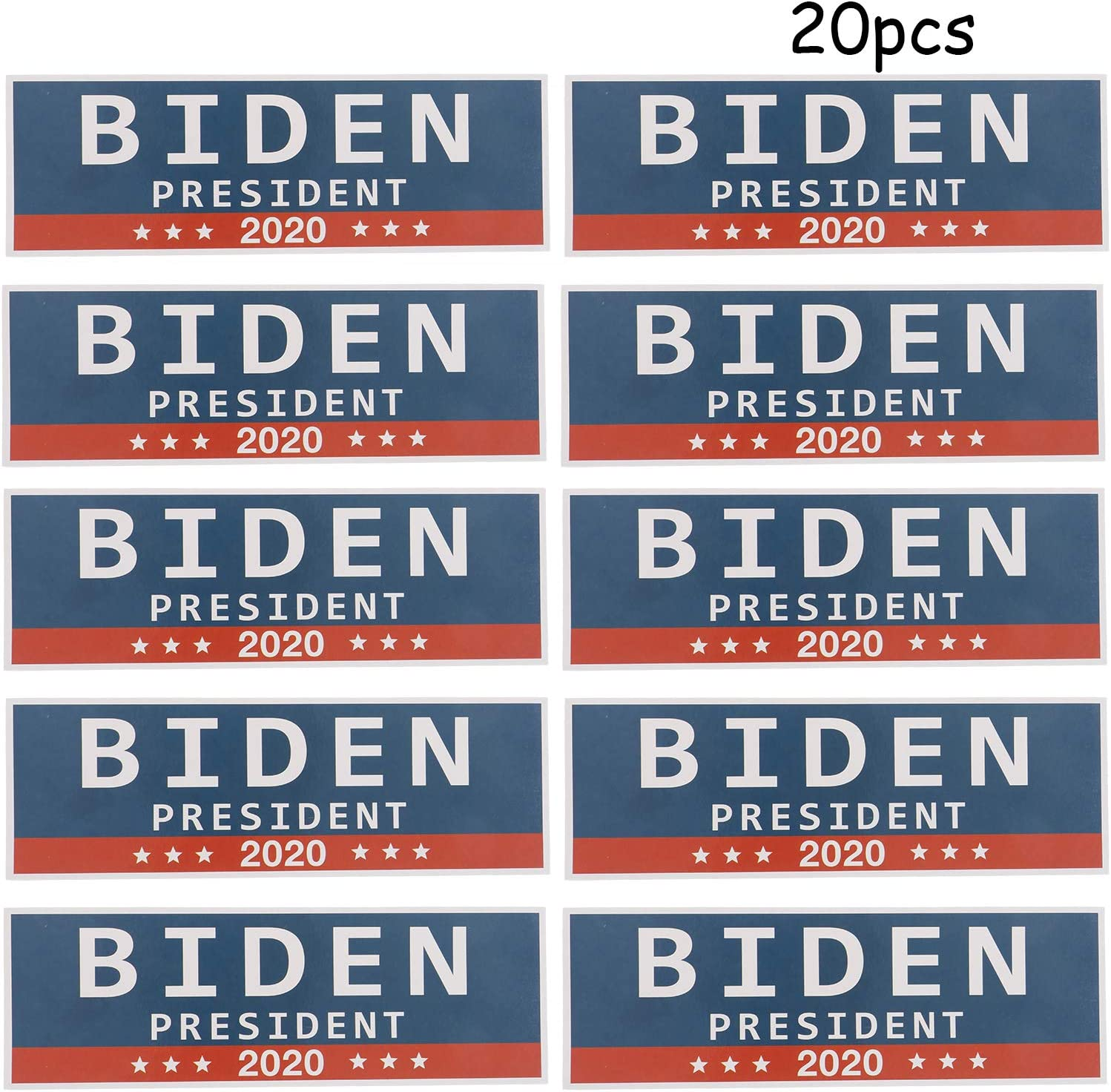 OBANGONG 20 PCS President 2020 Stickers 9 X 3 Inch Car Truck Bumper Stickers for President Supporters