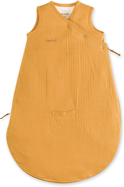 En Tetra Jersey Ocre Golden BEMINI TOG : 1 0//3 Mois 60 cm Gigoteuse Magic bag