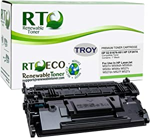 Renewable Toner Compatible MICR Toner Cartridge High Yield Replacement for Troy 02-81676-001 HP CF287X 87X for Laserjet M501 M506 M527