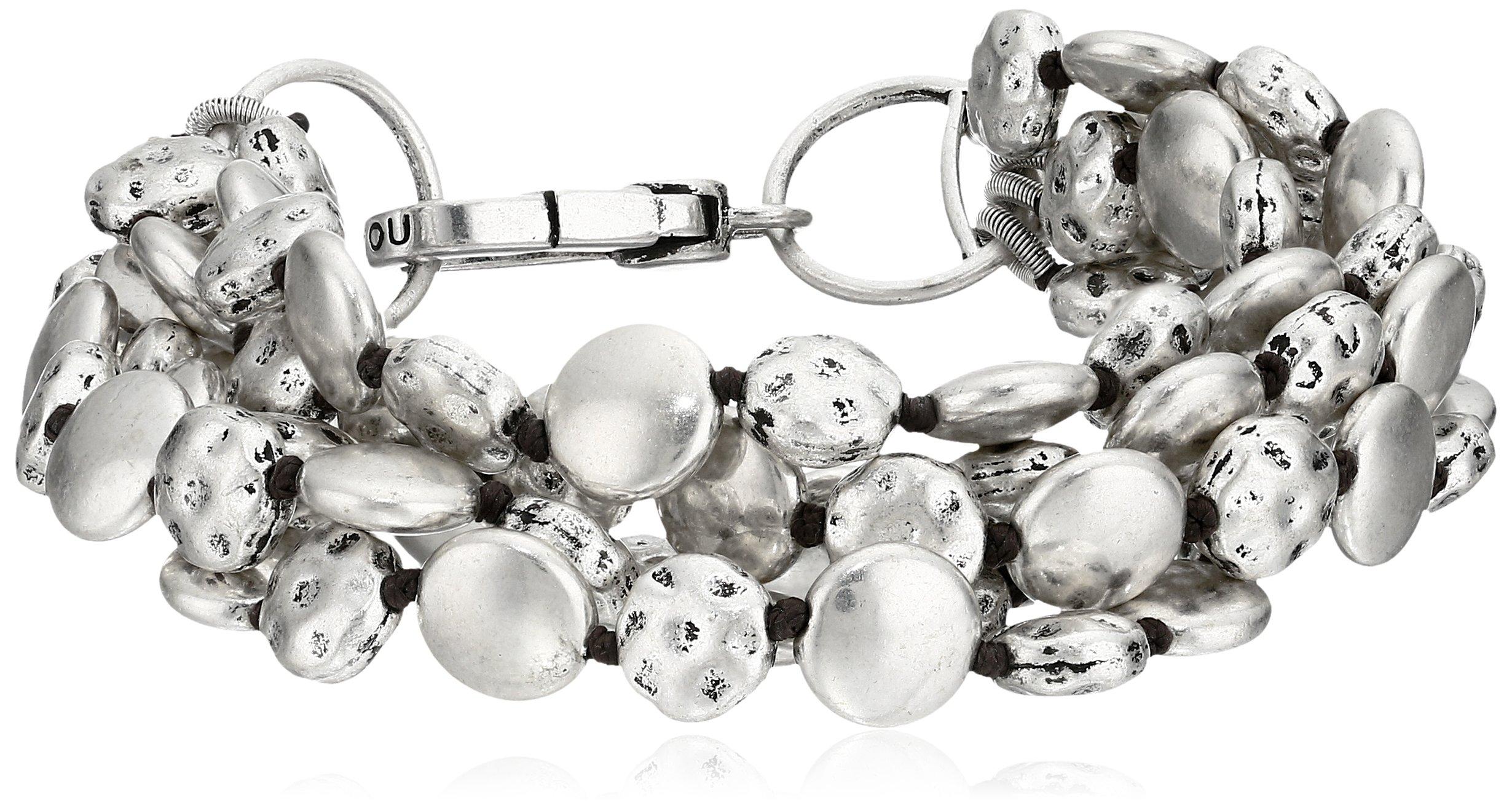 Lucky Brand Silver Coin Bracelet, 7.5''
