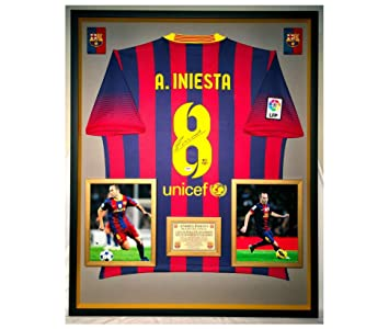 Premium Framed Andres Iniesta Autographed Signed Barcelona Official ... 2dc9b7046c5