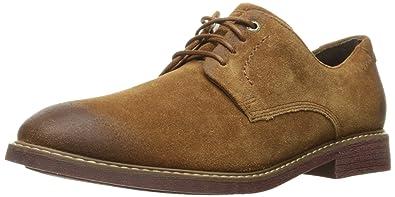 Rockport Men's Classic Break Plain Toe Oxford- Cognac Suede-8.5 W
