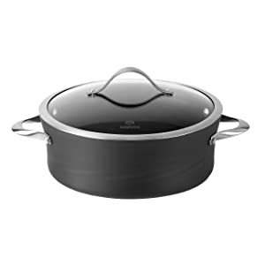 Calphalon Contemporary Hard-Anodized Aluminum Nonstick Cookware, Sauce Pot, 5-quart, Black