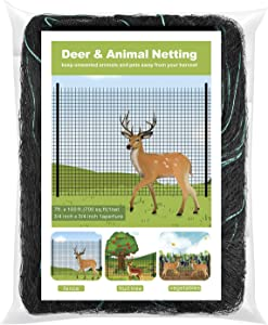 WOSCMI Deer and Animal Fence Netting 7 X 100 Feet for Garden, Farm, Orchard