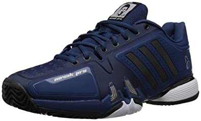 best service e0125 51929 adidas Men s Novak pro Tennis Shoe, Real Blue core Black White, 6.5