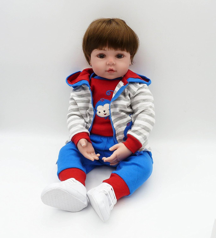 iCradle Ponderado Juguete Realista de Muñecas 24 Pulgadas 61cm Vinilo de Silicona Suave Lifelike Reborn Baby Doll (18
