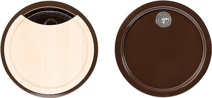 Rieber Einbausp/üle Round Select magnolie K/üchensp/üle MADE IN GERMANY korrosionsbest/ändig /& lichtecht Emaillierte Sp/üle 1 Becken und 1 Tropfmulde je /ø 451 mm Sp/ülbecken rund