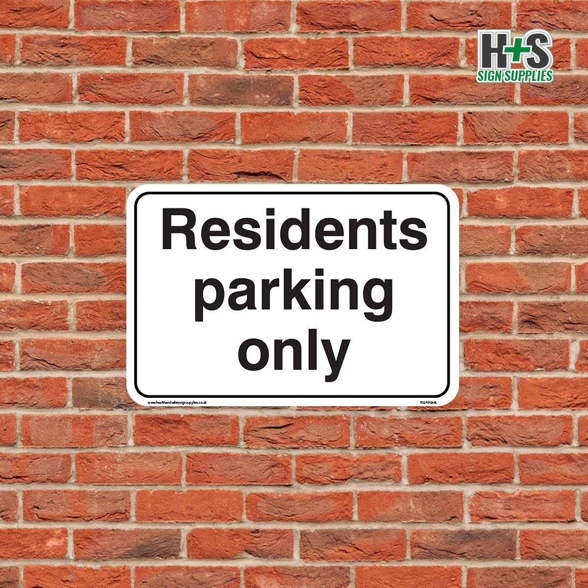 Residents Parking Only Sign Car Park Signs 1.5mm Rigid Plastic, 300mm x 200mm - A4