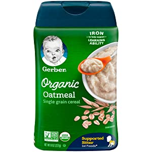Gerber Baby Cereal, Organic Oatmeal, 8 Ounce