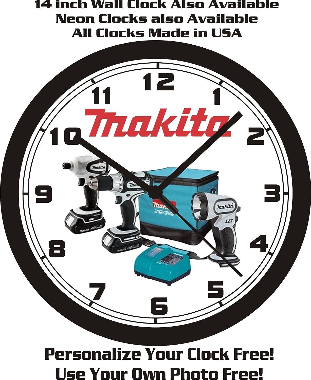 Amazon Makita Power Tools Wall Clock Free Usa Ship Home Kitchen