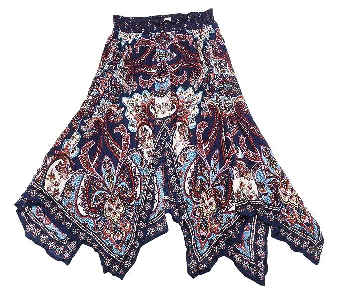 232bfc62d0 Bila Womes Boho Handkerchief Long Skirts at Amazon Women's Clothing store: