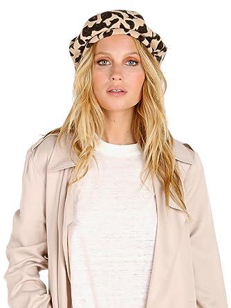 ba2f9a7a3cbcf Amazon.com  Brixton Women s Audrey LW Beret Leopard SM (7)  Clothing