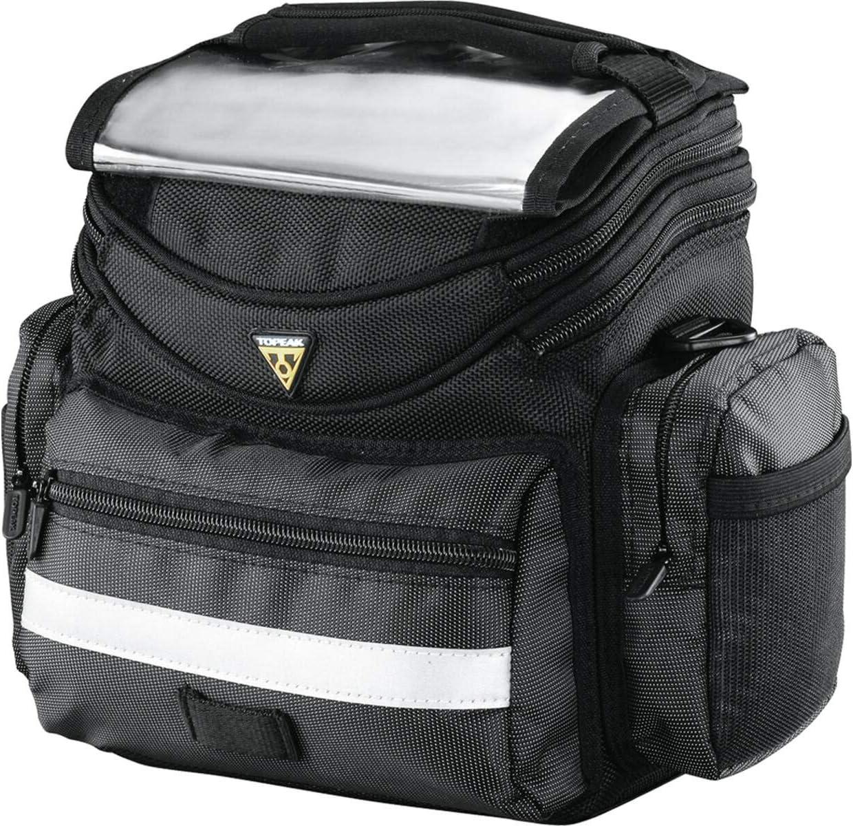 Topeak Handlebar Bag Tourguide, Bolsa de Manillar para Bicicleta, Negro, Talla única