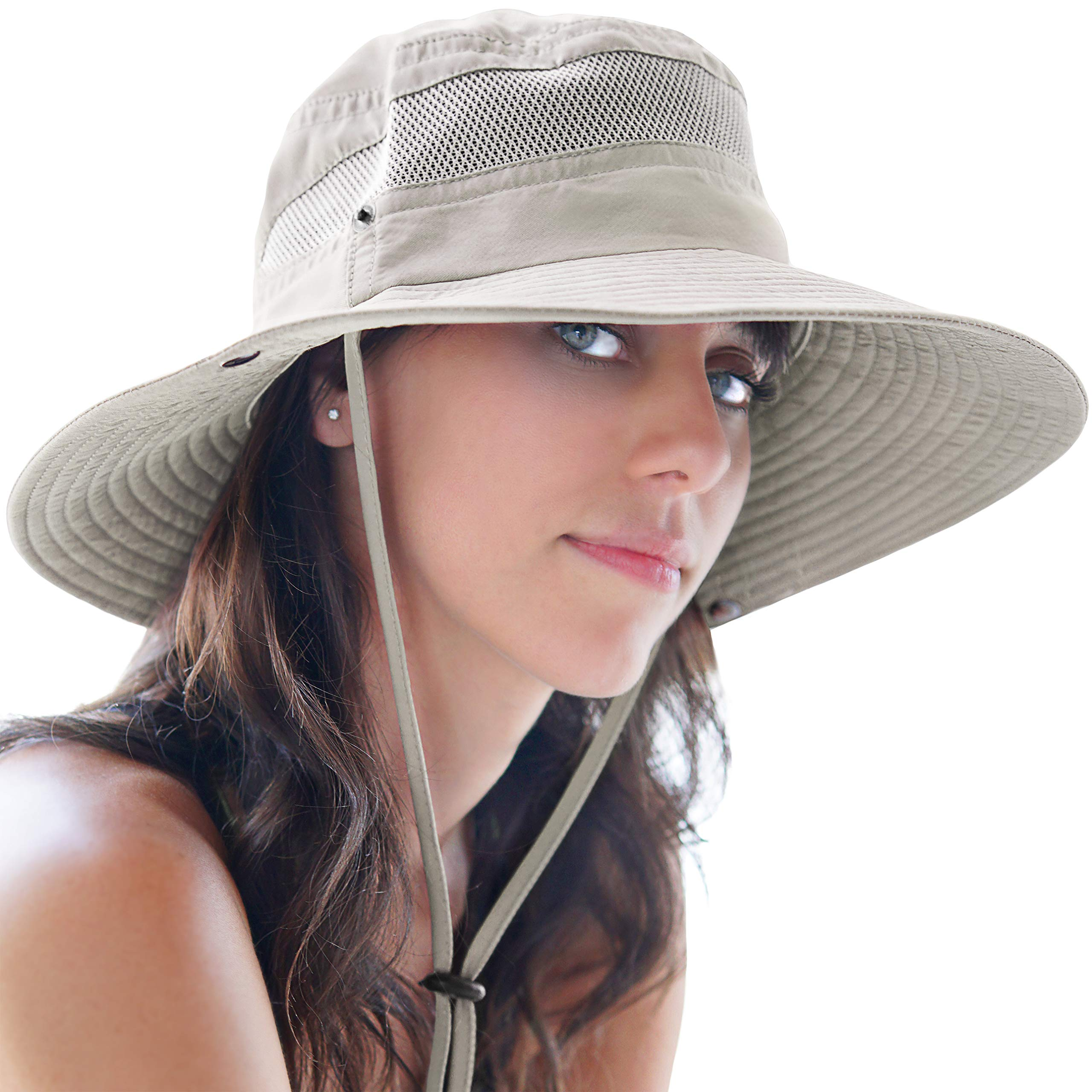 GearTOP Sun Hats for Women and Men | This Summer Cap is Your Best Choice for Sun Protection (Beige Fishing Hat) by GearTOP (Image #1)