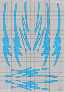 TRC8505 Lightning Bolts Design Paint Mask RC Body Vinyl Paint Mask Stencils Airbrush R//C