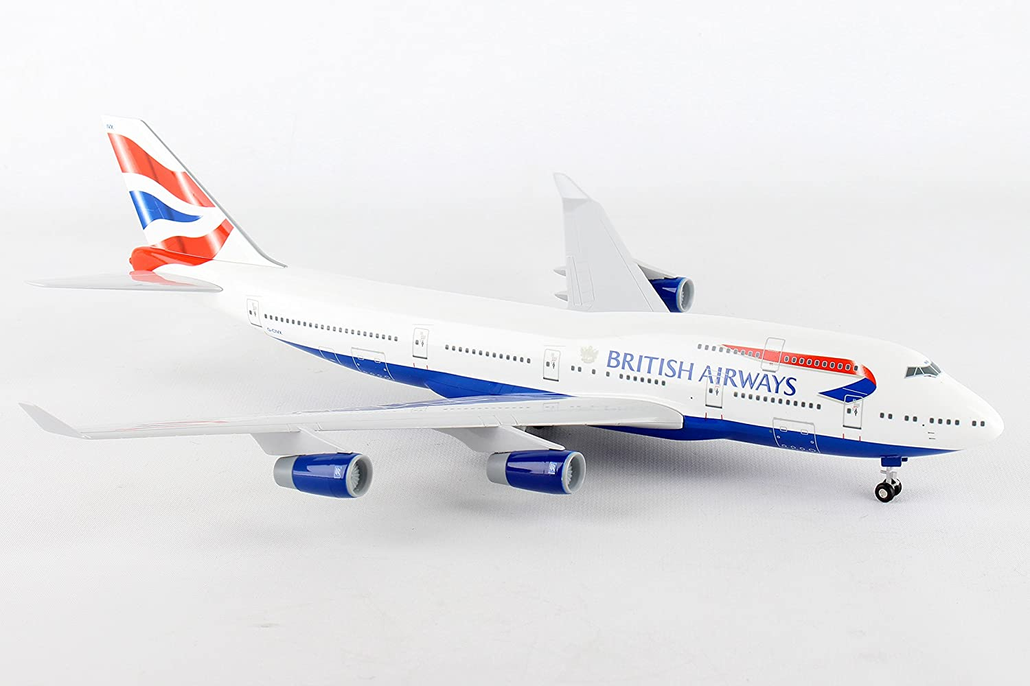 Skymarks skr304 British Airways B747 – 400 Unión cola plástico modelo