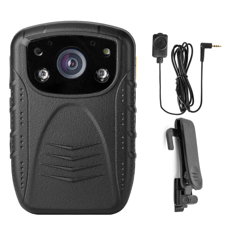 Angin-tech Cam101 HD 1080P Vision Nocturne Infrarouge Corps de Police Caméra IRC Sécurité AM Bouton Résolution + 480 + Caméra 16GB TF Carte AGT-PWC1