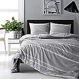 HYPREST Bohemian King Duvet Cover Set Lightweight Soft Grey 3PC Comforter Cover Set Hotel Quality Bedding Set - Oeko-TEX Cert