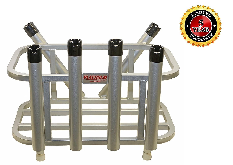 Jet Ski Fishing Rod Rack & Cooler Holder Combo (Mill Finish)