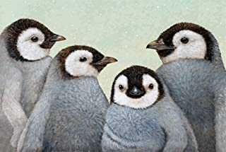 product image for Hester and Cook Paper Placemats for Dining Table - Disposable Square Paper Placemats for Winter Parties - Vicki Sawyer Designed - Penguin 24 Sheets - American Made