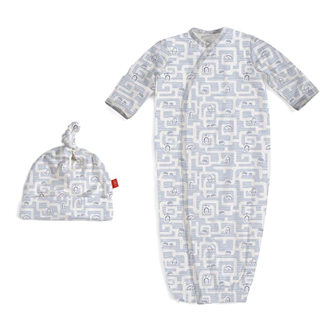 Amazon Com Magnificent Baby Magnetic Modal Sack Gown And Hat Set