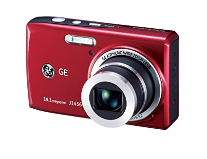 amazon com ge j1456w red 14 4 mp 5x optical zoom digital camera rh amazon com GE X600 Digital Camera GE X400 Camera