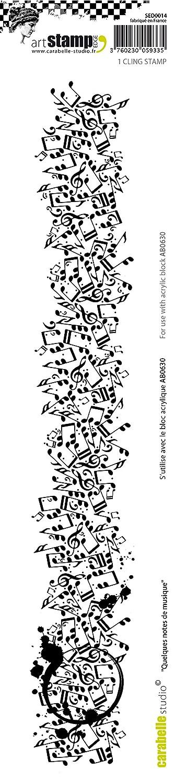 31 x 6 x 1.5 cm Carabelle Studio Cling Edge Stamp Grunge Meter White//Transparent