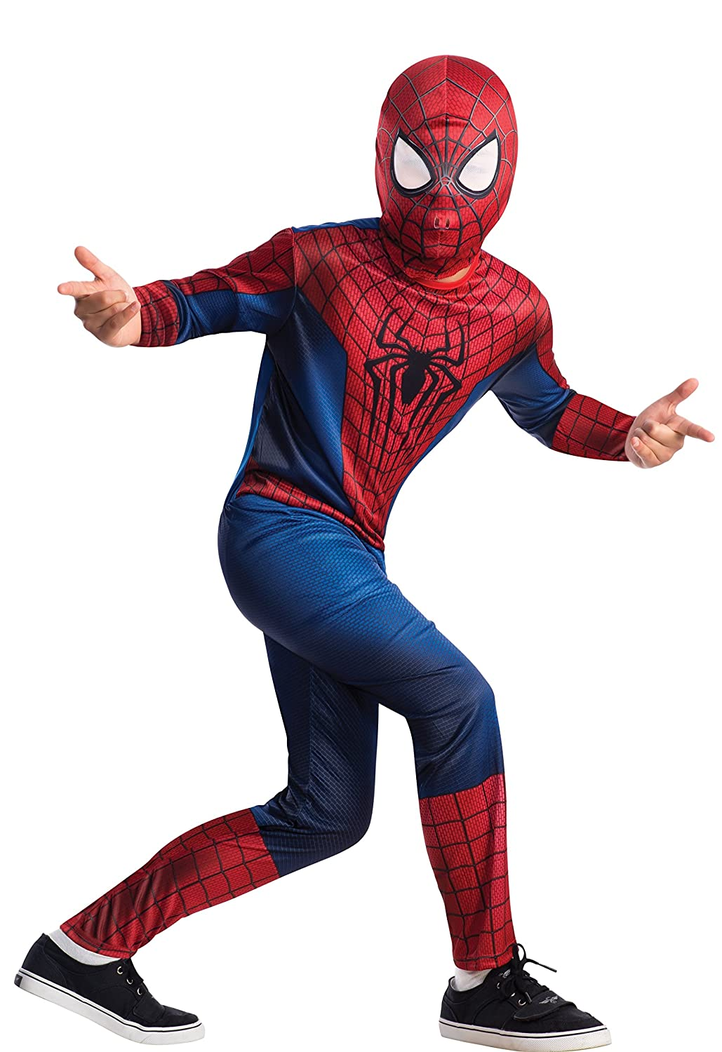 Amazon.com The Amazing Spider-man 2 Spider-man Value Costume Child Medium (8-10) Toys u0026 Games  sc 1 st  Amazon.com & Amazon.com: The Amazing Spider-man 2 Spider-man Value Costume ...