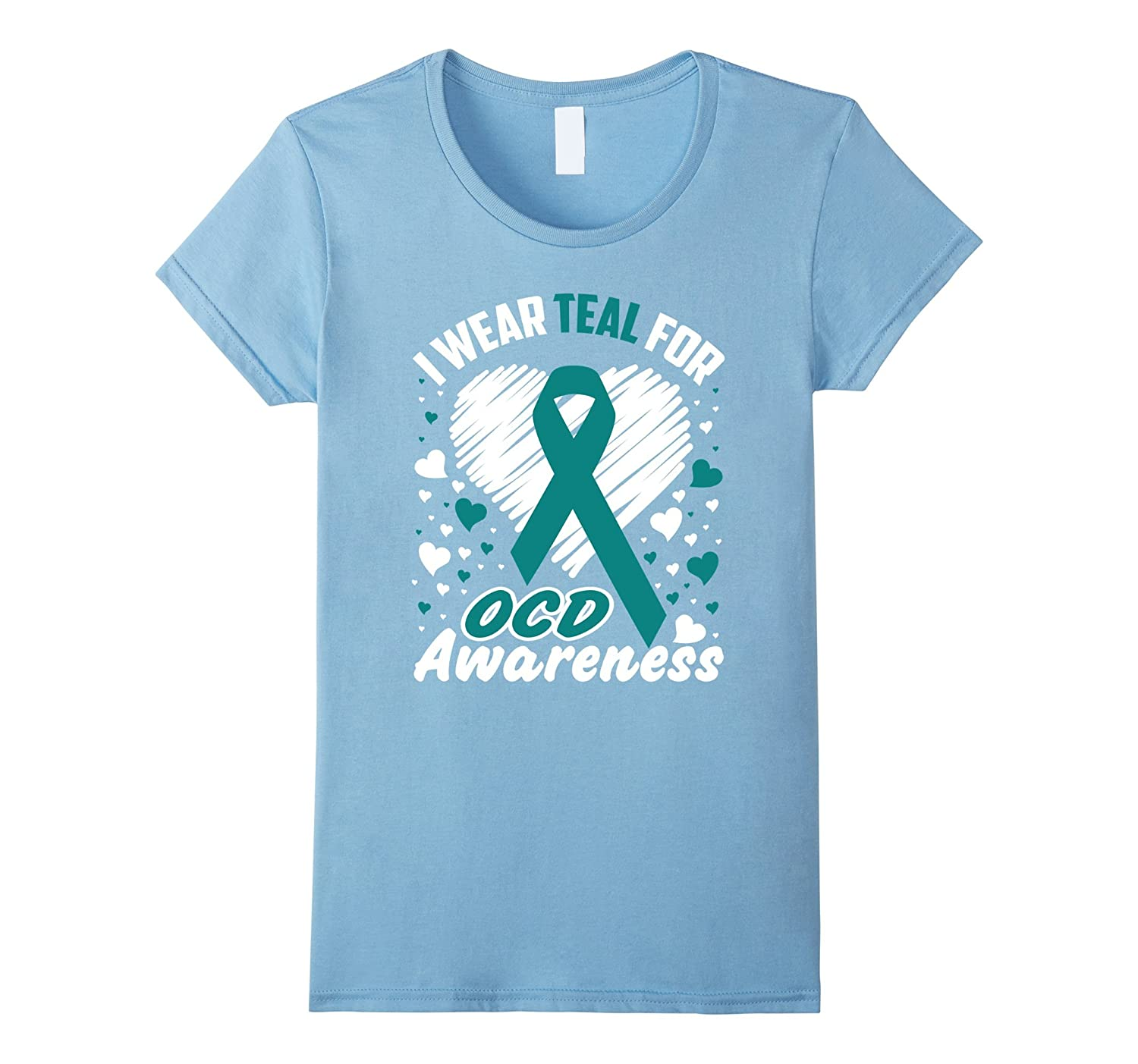 Amazon.com: I Wear Teal For OCD Awareness T-Shirt Obsessive ...