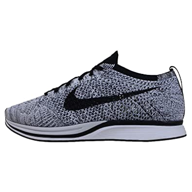 sports shoes 921cd 5690a Nike Men s Flyknit Racer, White Black-Volt, 8 M US  Buy Online at Low  Prices in India - Amazon.in